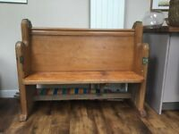Vintage church pew - pitch pine