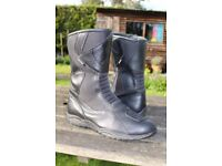 OXFORD WATERPROOF LEATHER MOTORCYCLE BOOTS SIZE 10 * EXCELLENT *