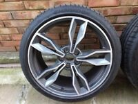 audi tts alloy wheels 19 with tyres fits skoda seat vw