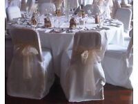 Luxury White Chair Covers- Wedding, banquet, event etc...