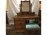 Pine vanity unit