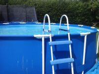 INTEX 15ft pool with ladder, filter, cover and all accessories