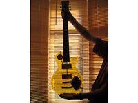 Wesley Transparent Les Paul style electric guitar.