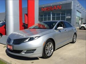 2015 Lincoln MKZ EcoBoost, navigation, leather, moon roof