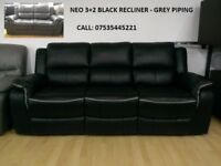 NEO LEATHER RECLINER sofa other sofas available from £210, look at pics + choose, call now