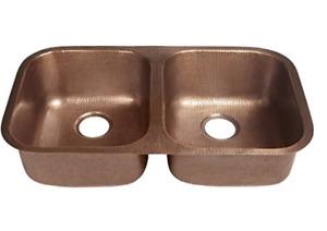 Sinkology Copper Double Bowl Kitchen Sink