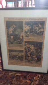 Vintage Hockey Newspaper Article Featuring Toronto Maple Leafs