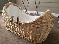 Brand new Clair De Lune Noah Pod Moses Basket