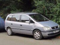 Vauxhall Zafira 1.6 2002 petrol 7 seater spares or repair