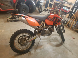 2005 KTM 400 exc, plated
