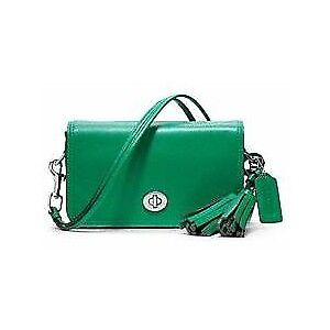 Coach Legacy Leather Penny Shoulder Purse - Emerald Green