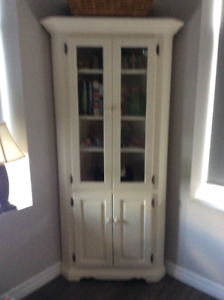 Solid Pine (painted) Corner Cabinet