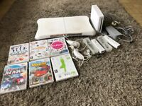 Wii console an wii fit board