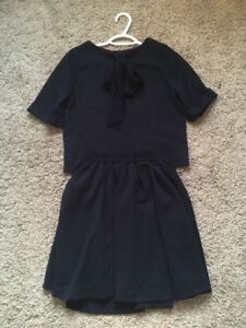 Abc une face winter navy ribbon dress size s