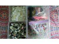 Free Box of buttons beads