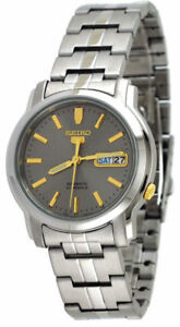 Seiko Men's SNKK67 Automatic-Self-Wind Grey Dial Watch NEW