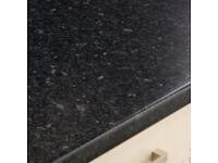 Kitchen Worktops - Black Granite effect New