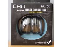 CAN NC100 Professional Active Noise Cancelling Headphones: Brand New In Box