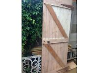 Solid wood old shed door over 60 years old