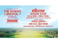 Two tickets for the Bristol Downs concert