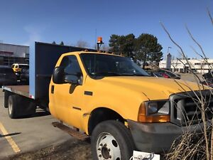 2001 Ford F450 flat bed with dump
