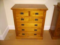 Pine look chest of drawers - from M&S - four plus two drawers