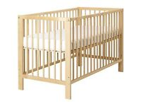 IKEA Gulliver Cot, Matress & Bedding