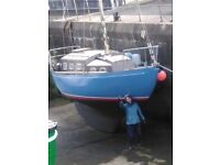 Classic 30' wooden yacht. New survey 2014, built 1973. Excellent sea boat.