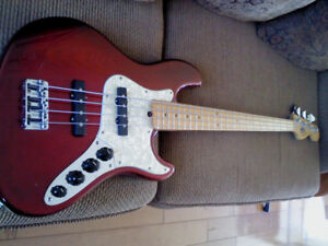 Jazz Bass American Deluxe  Suhr Pickups et Preamp 1997