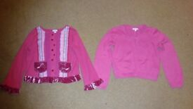 2 girl's pink cardigans. £2.50 for both