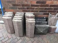 FREE Copeing stones slabs wall bricks used FREE