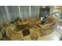 Wicker table & 4 chairs set & more!