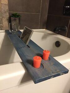 Hand Made Bathtub Caddy Navy