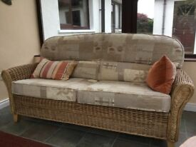 Cane furniture. 2 chairs, 1 table, 2/3 seater sofa
