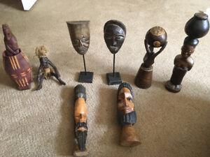 Wooden African figures
