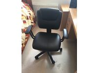 Black Faux Leather swivel desk chair