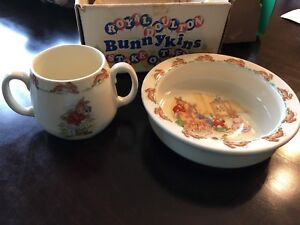 1980's Authentic Royal Doulton Bowl & Cup Set -Brand New