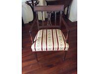 Antique Regency/Georgian mahogany carver arm chair