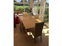 Large extending dining table & 4 chairs - cheap cheap cheap