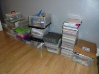 huge amount of card crafting items 1000s of items paper card cutters inks ect