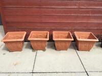 4 Terracotta Plant Pots