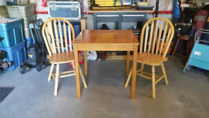 Small Square Dining Table and Two Chairs