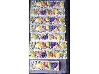 7 & 1/2 fruit border tiles