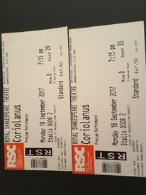 Tickets,Shakespeare theatre, stratford upon avon