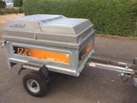 Like new Erde tipping trailer + hardtop/spare wheel