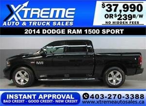2014 DODGE RAM SPORT CREW *INSTANT APPROVAL* $0 DOWN $239/BW
