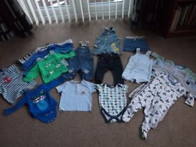 BUNDLE OF BABY BOY'S CLOTHES 3 - 6 MONTHS