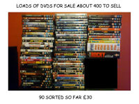 90 DVDS FOR £30 (100'S MORE TO SORT OUT)
