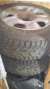 4 tires on rims 225/60R16