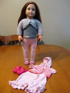 """18"""" OUR GENERATION DOLL WITH EXTRA OUTFIT LIKE AMERICAN GIRL"""